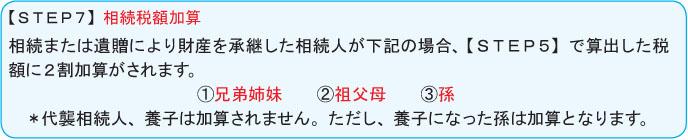 【STEP7】相続税額加算